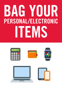 Place personal items in plastic bag